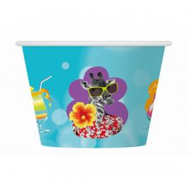 Papírové kelímky na zmrzlinu Hawai,o7,2cm x v6cm,6ks