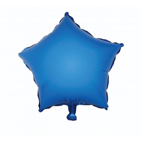 Balon foliový Hvězda Modrá,46cm