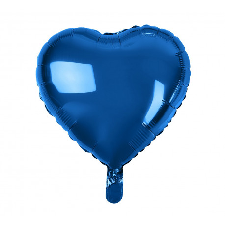 Balon foliový Srdce Temně modré,45cm