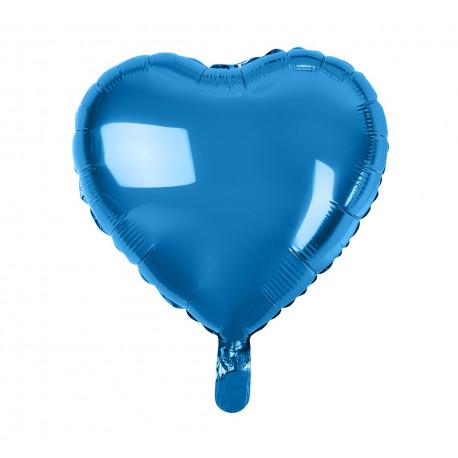 Balon foliový Srdce Modré,45cm