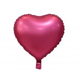 Balon foliový Srdce Temně růžová matná,45cm