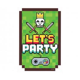 Pozvánky Minecraft - 6ks
