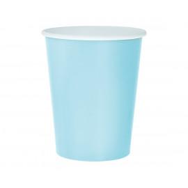 Papírové kelímky,270ml,14ks,lehce modré