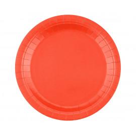 Papírové talíře,23cm,14ks, červené