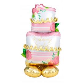 Foliový balonek Stojící-airloonz Wedding cake,