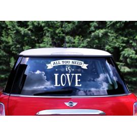 Samolepky na auto, All you need is love, 33x45cm