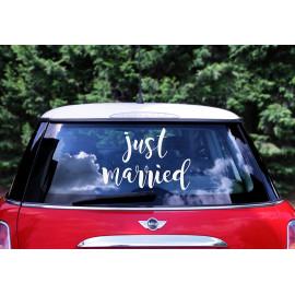 Samolepky na auto, Just married, 33x45cm