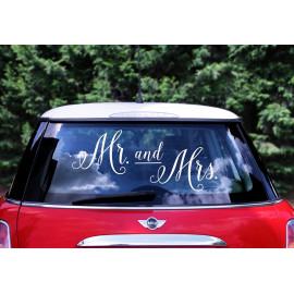 Samolepky na auto, Mr. and Mrs.