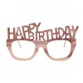 Papírové brýle HB,6ks,rose gold